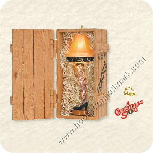 2008 The Unforgettable Leg Lamp Hallmark Ornament at Hooked on ...