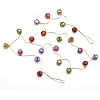 Fuchsia Explosion, Jingle Bell Garland Hallmark Christmas Ornament