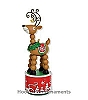 2010 Wiggle Wobble Reindeer Hallmark Christmas Ornament