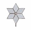 2011 Christmas Star Tree Topper - Simple Elegance Glass