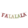 Red & Green, Fa La La Door BannerHallmark Christmas Ornament