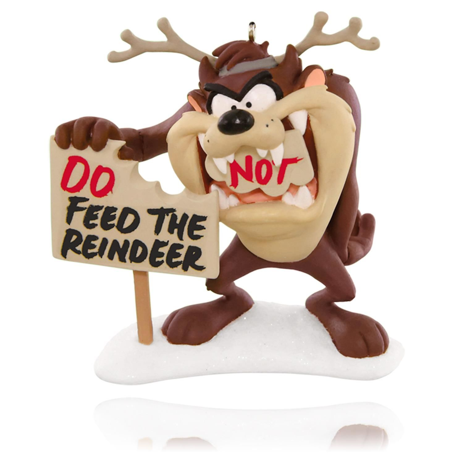 Reindeer christmas ornaments - 2015 Feed The Reindeer Taz Hallmark Ornament Hooked On Hallmark Ornaments