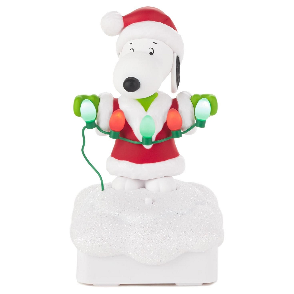 Snoopy Christmas Tree Topper: 2015 Peanuts Gang Christmas Light Show