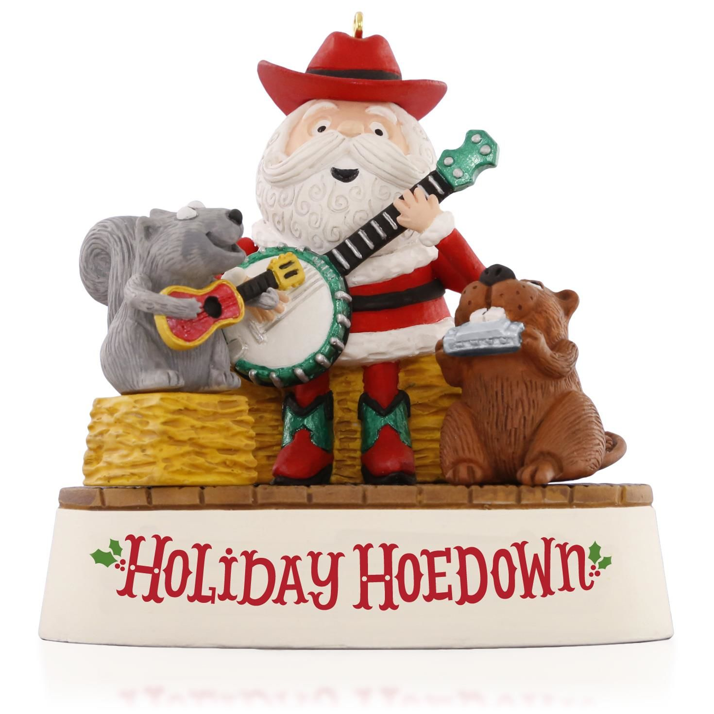 Holiday hoedown hallmark keepsake ornament hooked