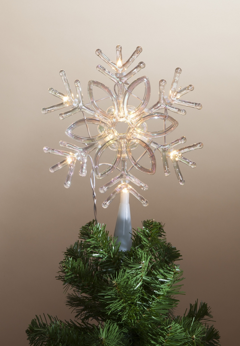 Lighted Snowflake Tree Topper at Hooked on Hallmark Ornaments