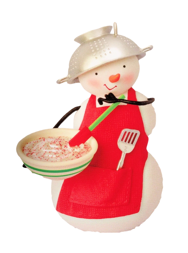 2009 hallmark keepsake ornament  snow much fun to cook at hooked on hallmark ornaments