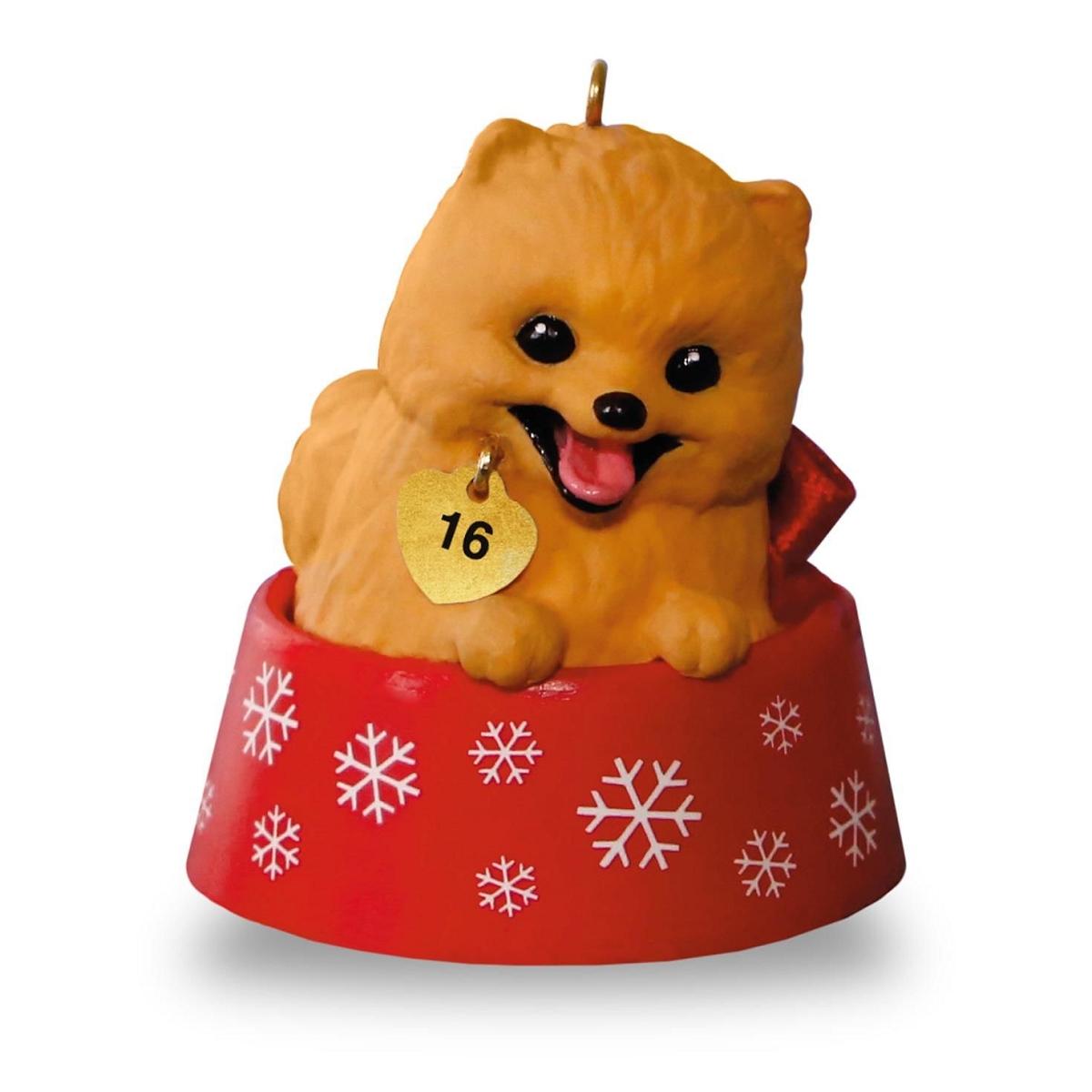 2016 puppy love pomeranian hallmark keepsake ornament