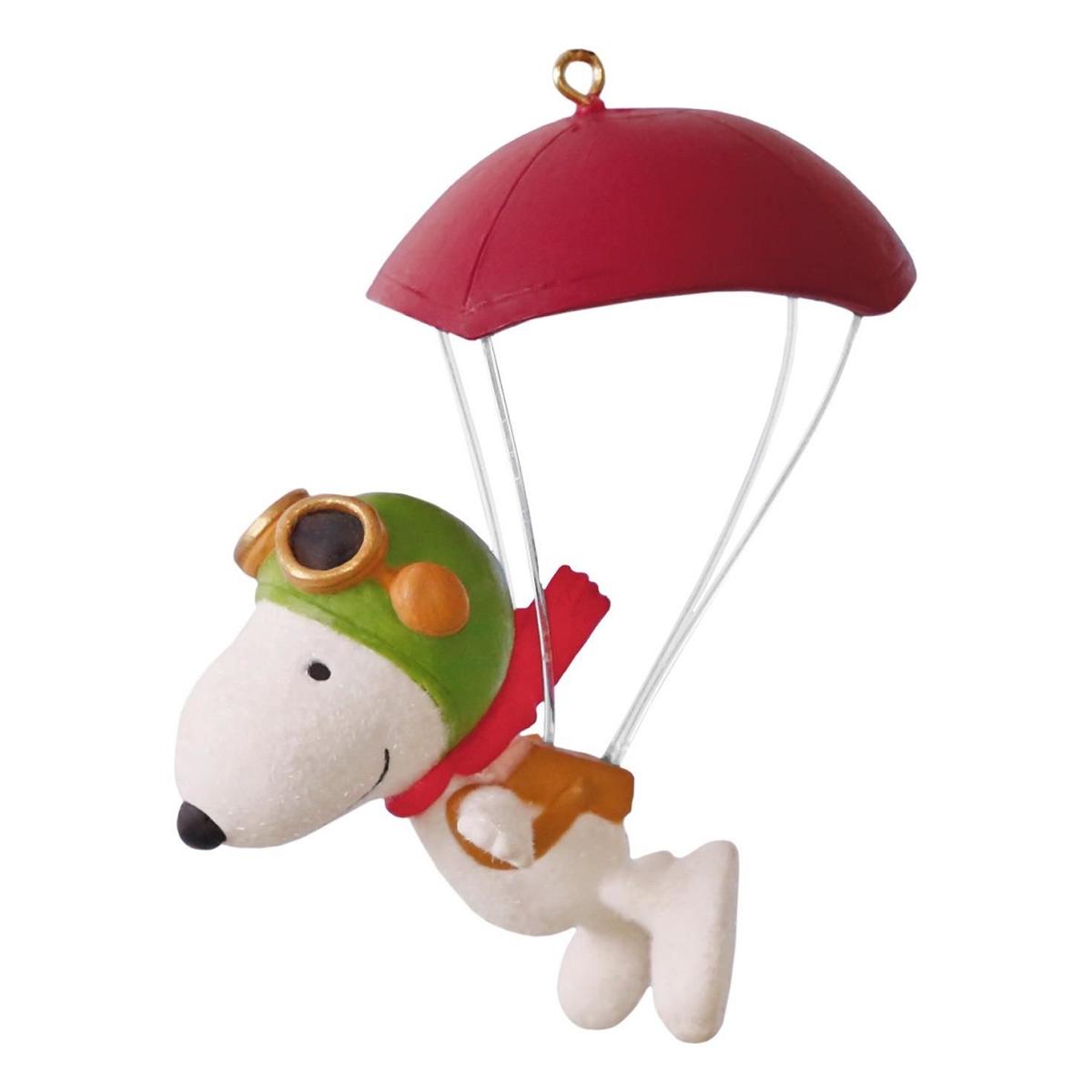 Snoopy Christmas Tree Topper: 2016 Paratrooper Snoopy Hallmark Keepsake Ornament