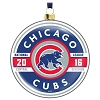 2016 MLB Chicago Cubs Glass Ornament - Hard to Find!!!