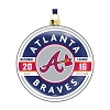 2016 MLB Atlanta Braves Glass Ornament