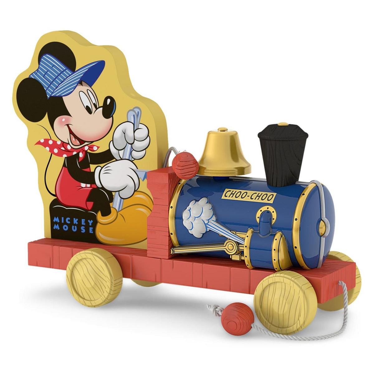 2016 choo choo mickey hallmark keepsake ornament hooked for Disney mickey mouse motorized choo choo train with tracks
