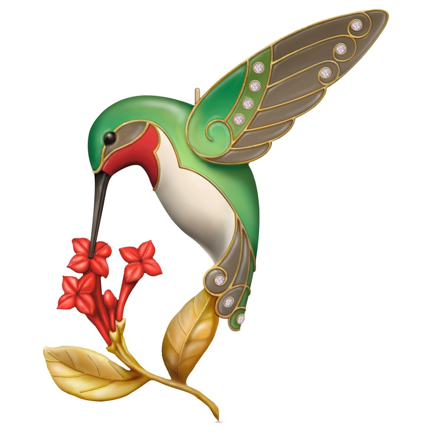 2016 Dazzling Hummingbird Hallmark Keepsake MIniature Ornament ...