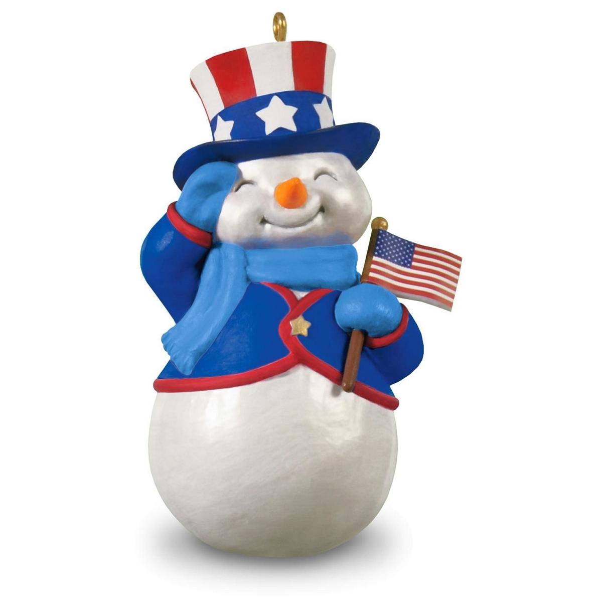 2016 patriotic snowman hallmark keepsake ornament hooked Hallmark usa