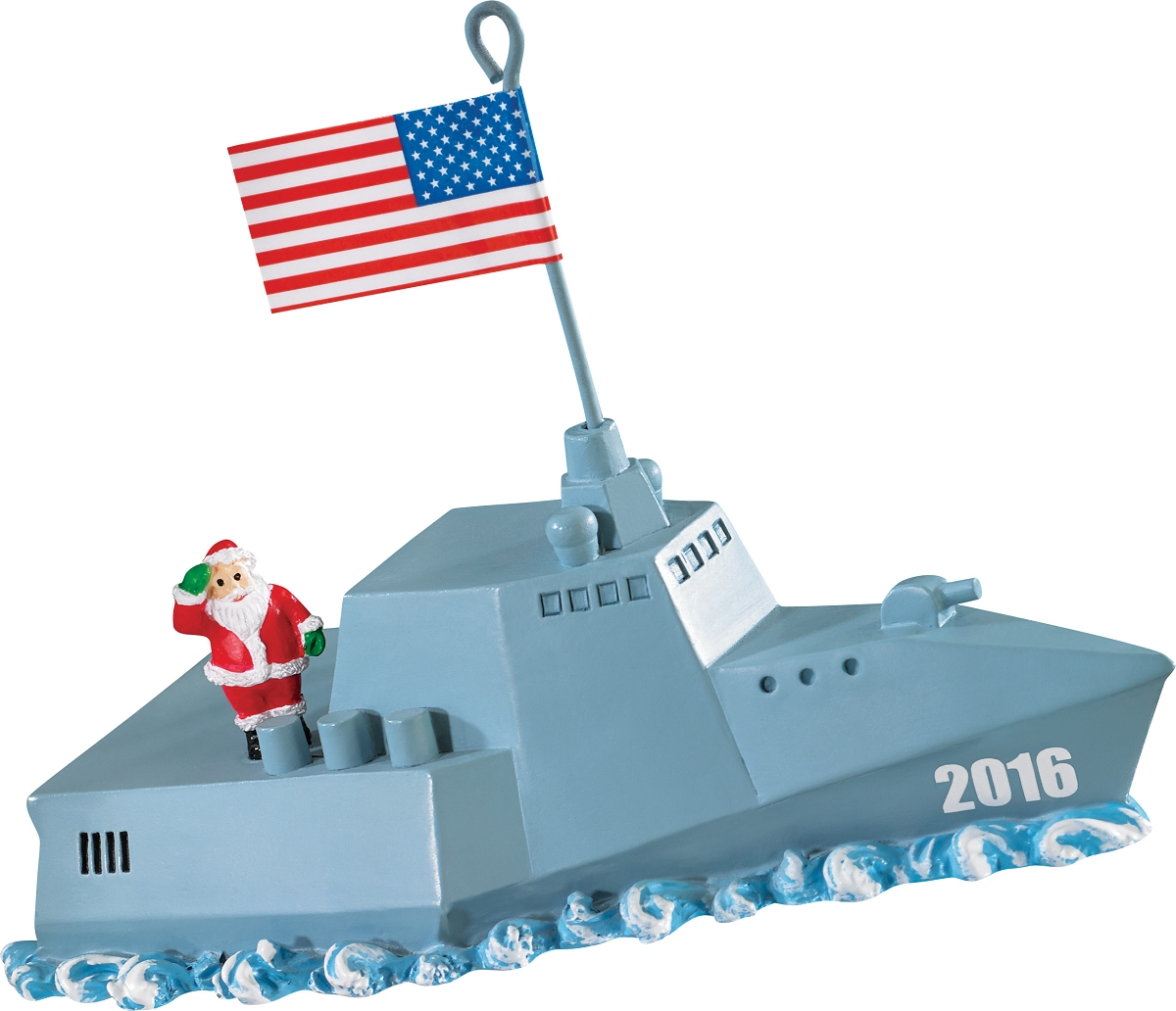 American Greeting Christmas Ornaments Part - 50: 2016 Navy Santa - Carlton Ornament From American Greetings At Hooked On  Ornaments