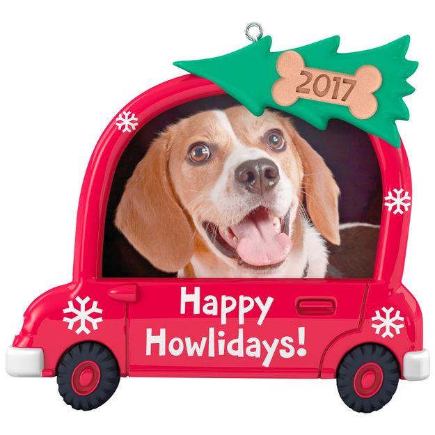 2017 Happy Howlidays Dog Photo Holder Hallmark Keepsake