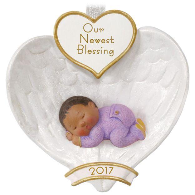 2017 baby u0026 39 s first christmas african american hallmark keepsake ornament