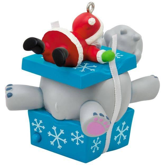 2017 I Want a Hippopotamus for Christmas Hallmark Magic Ornament ...