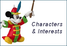 2017 Hallmark Characters & Interests Ornaments