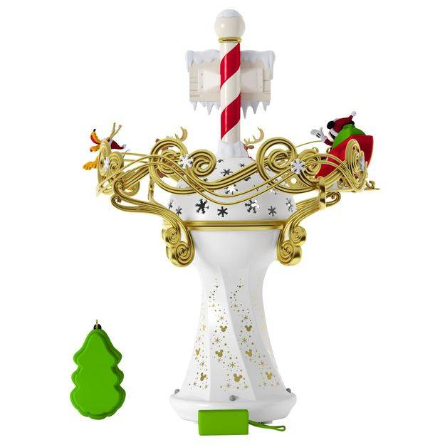 Mickey Christmas Tree Topper: 2017 Hallmark Disney Oh What Fun Tree Topper