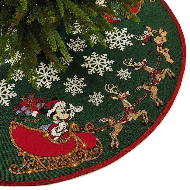 2017 disney oh what fun tree skirt lighted - Disney Christmas Tree Skirt