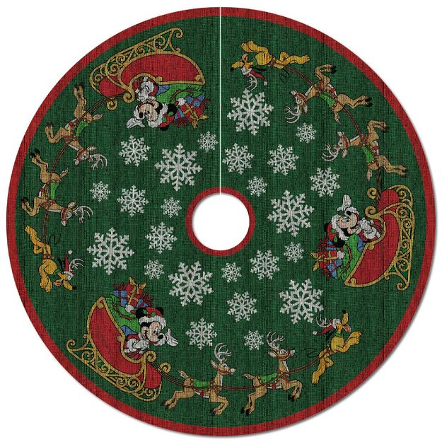 2017 Hallmark Disney Oh What Fun Tree Skirt - Hooked on Hallmark ...