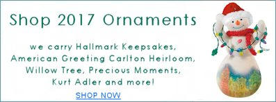 Shop 2017 Christmas Ornaments