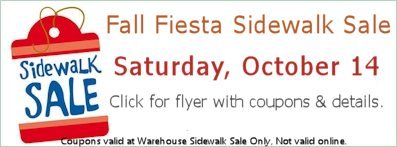 FALL Fiesta Sidewalk Sale