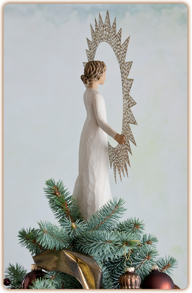 Willow tree starlight tree topper by demdaco at hooked on for Number of ornaments for christmas tree