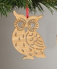 2014 Bamboo Owl Laser Cut Ornament