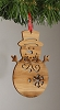 Bamboo Snowman Ornament Hallmark Christmas Ornament