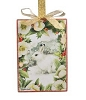 Winter Rabbit Canvas Ornament