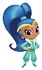 2017 Shimmer and Shine - SHINE - Am Greetings Ornament