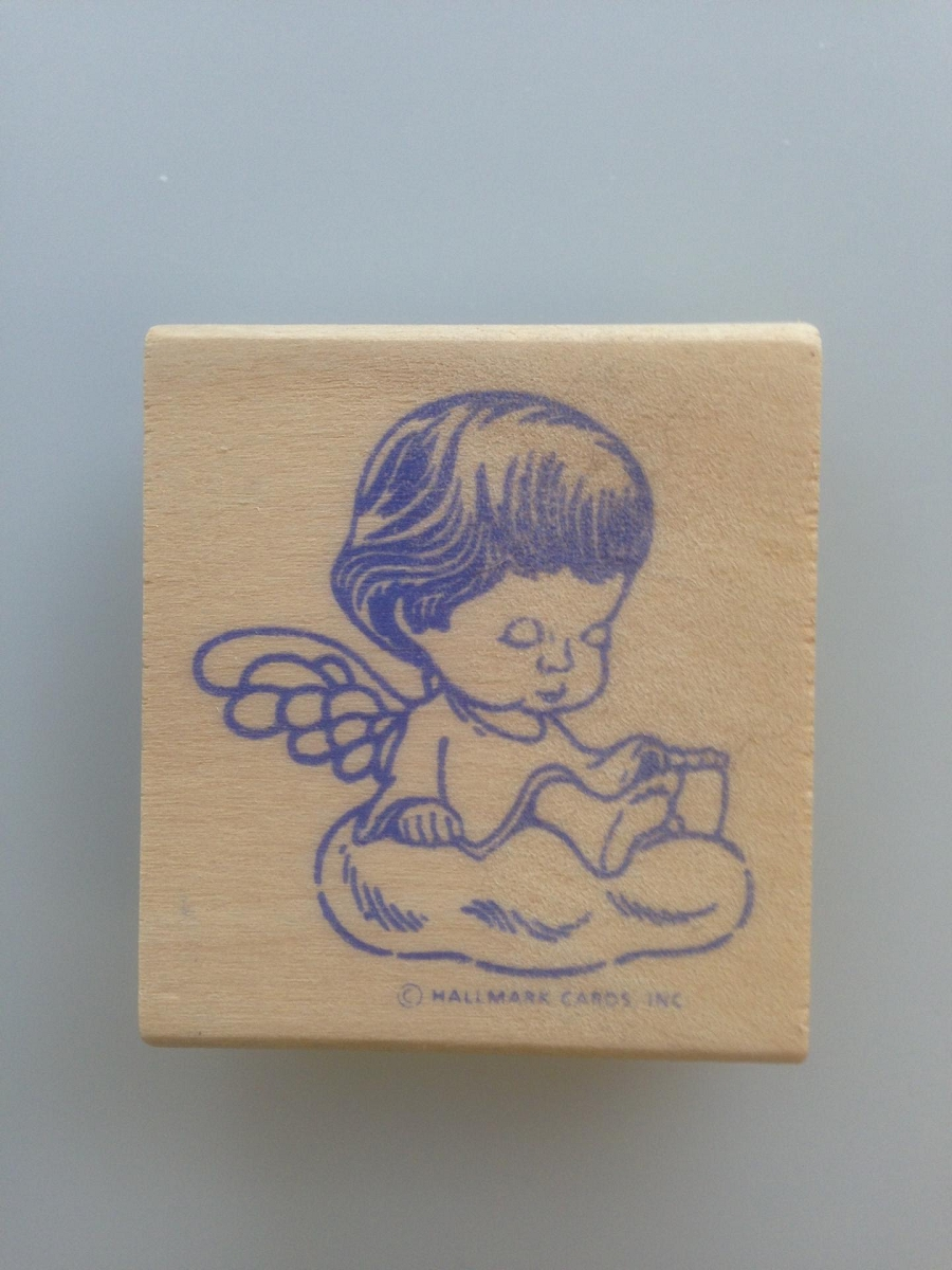 Marys Angel Rubber Stamp