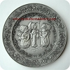 1981 Christmas Pewter Plate #5 - The Little Carolers