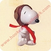 Snoopy - Jointed Porcelain Hallmark Christmas Ornament