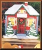 Holiday House LIGHTED Stocking HangerHallmark Christmas Ornament