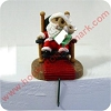 Santa and Baby, Tender Touches Stocking Hanger Hallmark Christmas Ornament