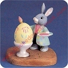 Rabbit Painting Egg - Tender Touches Figurine - NBHallmark Christmas Ornament