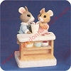 Mouse Couple Sharing a Soda - Tender Touches FigurineHallmark Christmas Ornament