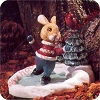 Rabbit Ice Skating - Tender Touches Figurine - SDBHallmark Christmas Ornament