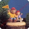 Dad and Son Bears - missing pennantHallmark Christmas Ornament