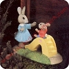 Bunnies With Slide - Tender Touches Figurine
