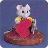 Mouse With Heart - Tender Touches FigurineHallmark Christmas Ornament