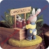 Rabbits at Juice Stand - Tender Touches FigurineHallmark Christmas Ornament