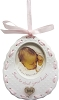 2014 Baby GIRL'S First Christmas, Bib - Carlton Ornament  - NBHallmark Christmas Ornament