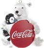 2014 Coca-Cola Polar Bear with Penguin - Carlton OrnamentHallmark Christmas Ornament