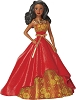 2014 Barbie - Holiday Barbie COLLECTORS VERSION #2 African/Am Hallmark Christmas Ornament