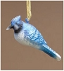 Blue Jay Blown Glass Ornament - RETIRED