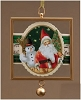 Santa and Snowman Framed Glass Ornament