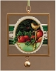 Holiday Basket Framed Glass Ornament